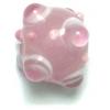 Glass Beads 10mm Round Pink Bumpy Beads
